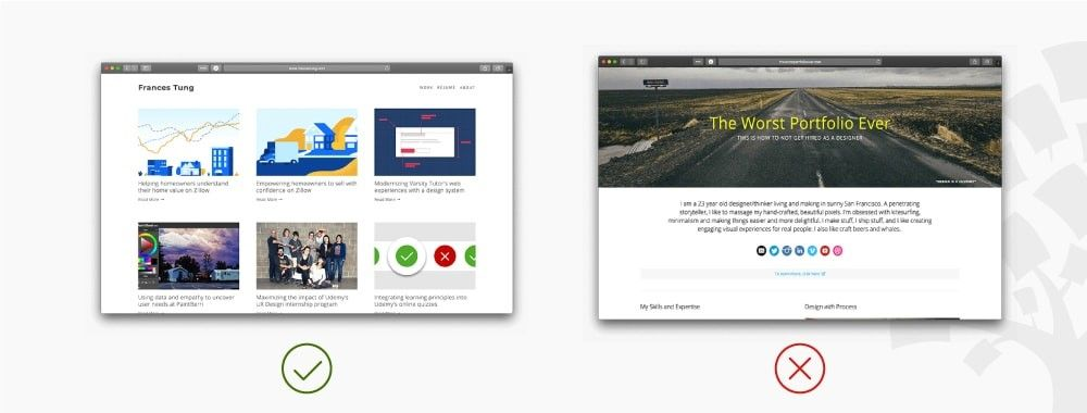 4 Good and 1 Bad UX Design Portfolio You Can Learn From