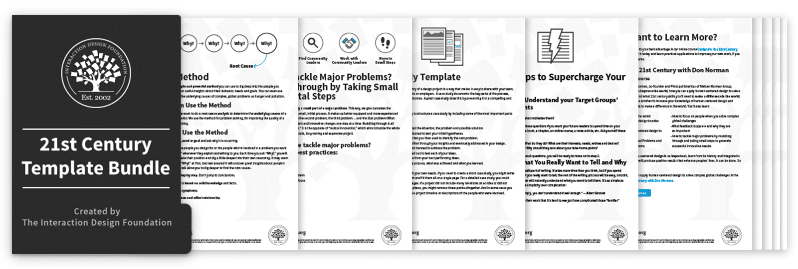 Bundle of 5 21st Century Design templates