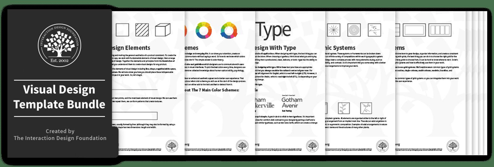 Bundle of 11 Visual Design templates