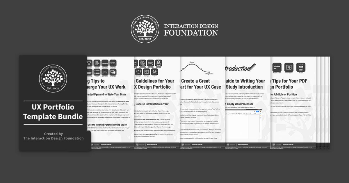 Bundle of 10 UX Portfolio templates