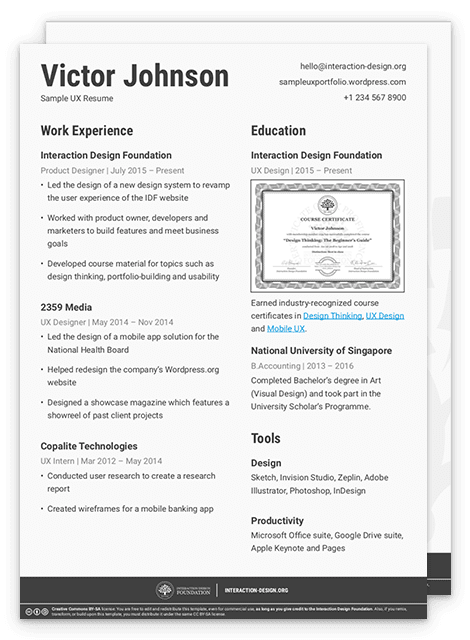 How To Create The Perfect Ux Resume And Cover Letter Interaction Design Foundation Ixdf